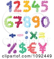 Colorful Bubble Number Design Elements