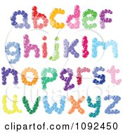 Colorful Bubble Lowercase Letter Design Elements