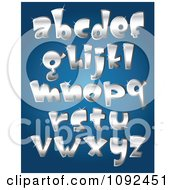3d Silver Sparkly Lowercase Letter Design Elements