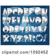 3d Silver Sparkly Capital Letter Design Elements