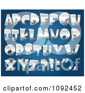 Clipart 3d Silver Sparkly Capital Letter Design Elements Royalty Free Vector Illustration by yayayoyo