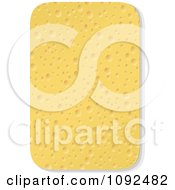 Clipart 3d Household Cleaning Sponge Royalty Free Vector Illustration