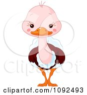 Clipart Cute Baby Zoo Ostrich Royalty Free Vector Illustration by Pushkin