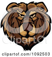Clipart Mad Bear Mascot Face Royalty Free Vector Illustration by Chromaco
