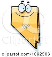 Clipart Happy Yellow Nevada State Character Royalty Free Vector Illustration