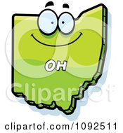 Clipart Happy Green Ohio State Character Royalty Free Vector Illustration