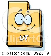 Clipart Happy Yellow Utah State Character Royalty Free Vector Illustration