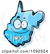 Clipart Happy Blue West Virginia State Character Royalty Free Vector Illustration