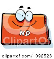 Clipart Happy Orange North Dakota State Character Royalty Free Vector Illustration