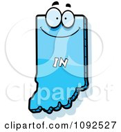 Clipart Happy Blue Indiana State Character Royalty Free Vector Illustration