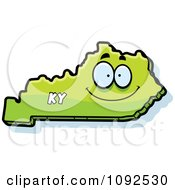 Clipart Happy Green Kentucky State Character Royalty Free Vector Illustration
