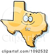 Clipart Happy Yellow Texas State Character Royalty Free Vector Illustration by Cory Thoman