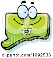 Clipart Happy Green Connecticut State Character Royalty Free Vector Illustration