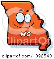 Clipart Happy Orange Missouri State Character Royalty Free Vector Illustration