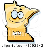 Clipart Happy Yellow Minnesota State Character Royalty Free Vector Illustration