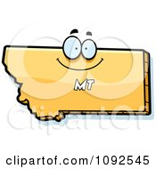 Clipart Happy Yellow Montana State Character Royalty Free Vector Illustration