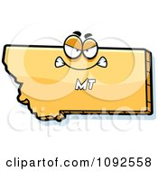 Clipart Mad Yellow Montana State Character Royalty Free Vector Illustration