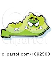 Clipart Mad Green Kentucky State Character Royalty Free Vector Illustration