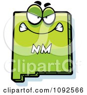 Clipart Mad Green New Mexico State Character Royalty Free Vector Illustration by Cory Thoman