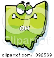 Clipart Mad Green Ohio State Character Royalty Free Vector Illustration by Cory Thoman