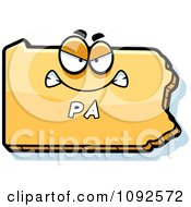 Clipart Mad Yellow Pennsylvania State Character Royalty Free Vector Illustration