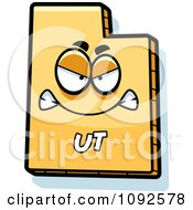 Clipart Mad Yellow Utah State Character Royalty Free Vector Illustration
