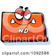 Clipart Mad Orange North Dakota State Character Royalty Free Vector Illustration