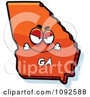 Clipart Mad Orange Georgia State Character Royalty Free Vector Illustration