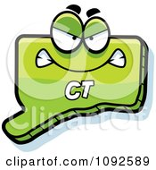 Clipart Mad Green Connecticut State Character Royalty Free Vector Illustration