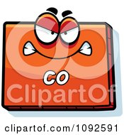 Clipart Mad Orange Colorado State Character Royalty Free Vector Illustration