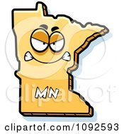 Clipart Mad Yellow Minnesota State Character Royalty Free Vector Illustration