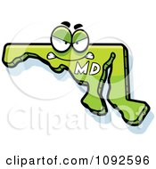 Clipart Mad Green Maryland State Character Royalty Free Vector Illustration by Cory Thoman