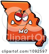 Clipart Mad Orange Missouri State Character Royalty Free Vector Illustration