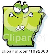 Clipart Mad Green Arkansas State Character Royalty Free Vector Illustration