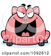 Clipart Chubby Evil Pig Royalty Free Vector Illustration
