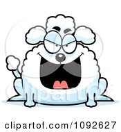 Clipart Chubby Evil Poodle Royalty Free Vector Illustration