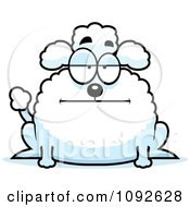 Clipart Chubby Bored Poodle Royalty Free Vector Illustration