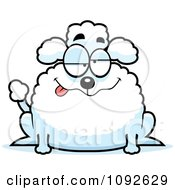 Clipart Chubby Goofy Poodle Royalty Free Vector Illustration