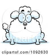 Clipart Chubby Surprised Poodle Royalty Free Vector Illustration