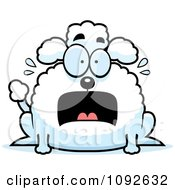 Clipart Chubby Scared Poodle Royalty Free Vector Illustration