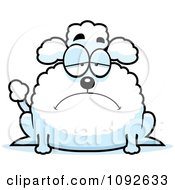 Clipart Chubby Depressed Poodle Royalty Free Vector Illustration