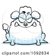 Clipart Chubby Mad Poodle Royalty Free Vector Illustration