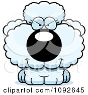 Clipart Sly White Poodle Puppy Royalty Free Vector Illustration by Cory Thoman