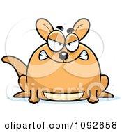 Clipart Chubby Mad Kangaroo Royalty Free Vector Illustration by Cory Thoman