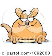 Clipart Chubby Goofy Kangaroo Royalty Free Vector Illustration by Cory Thoman