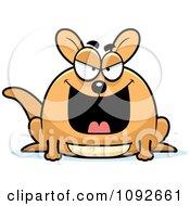Clipart Chubby Evil Kangaroo Royalty Free Vector Illustration by Cory Thoman