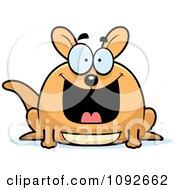 Clipart Chubby Grinning Kangaroo Royalty Free Vector Illustration