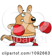 Clipart Chubby Kangaroo Boxing Royalty Free Vector Illustration by Cory Thoman
