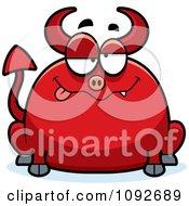 Clipart Chubby Drunk Devil Royalty Free Vector Illustration