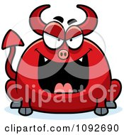 Clipart Chubby Evil Devil Royalty Free Vector Illustration
